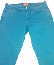 Lucky Brand Sweet'n Crop Green/Teal Womens Jeans Sz Tag 8/29