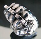 Knuckle Dusters Fist Ring Biker 31 grams of .925 Sterling Silver RG0135/S