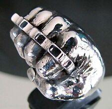 Knuckle Dusters Fist Ring Biker 31 grams of .925 Sterling Silver RG0135/S