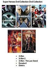 MARVEL SUPERHEROES COLLECTION DVD SET X MEN 1 2 3 DARE DEVIL ELEKTRA ELECTRA New
