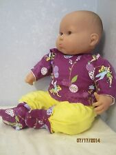 """baby doll clothes 3 piece tink pajamas fits 20-22"""" dolls"""