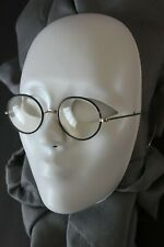 Vintage/Antique Windsor Black Rimmed Glasses, Silver colored arms-nose, w/case