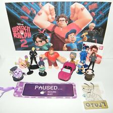 Ralph Breaks the Internet Figure Set of 12 With Race Car, Tattoo, Bookmark More