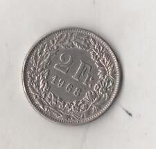 Moneta Svizzera / Switzerland / Helvetia 2 Fr. 1968 USATA