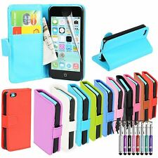 For Apple iPhone 5c Case Leather Wallet Cover Magnetic Flip