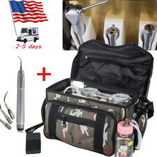 USA Portable Outdoor Dental Turbine Unit 4 Hole with Air Compressor +Air Scaler
