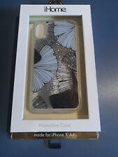 iPhone X / Xs designer case- Blue Shells - Glitter - Designed In NYC - Unique
