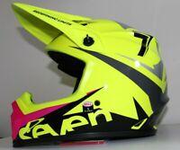 Casque Motocross BELL MX-9 MIPS SEVEN Jaune FLUO / rose / gris