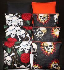 SKULL Cornhole Bean Bags 8 ACA Regulation Party Bags Skeleton Party
