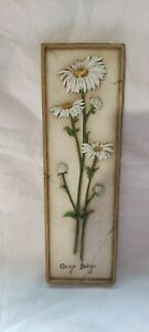 Vintage Marks & Spencer Ceramic Ox-eye Daisy ceramic wall plaque by M&S.