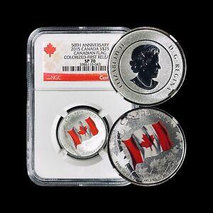 2015 Canada 25 Dollars - NGC SP70 (Perfect) Canadian Flag Top Pop 🥇