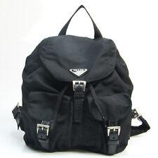 PRADA Nylon Backpack Black Used Auth 11-22