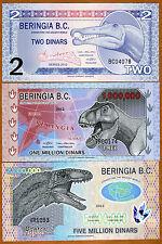 SET Beringia B.C., 2-1,000,000-5,000,000, 2012-2013, Polymer, UNC > Dinosaurs
