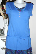 ESPRIT Tunika Long Shirt jsy blau blue, S 36 - cotton Baumwolle NEU