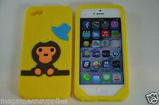 Yellow Baby Milo Monkey iPhone 5 5S Silicone Gel Full Back Designer Luxury Case