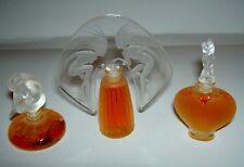 Authentic LALIQUE France Le Nu Amour Ondines Mini Miniature Perfume Set New Box