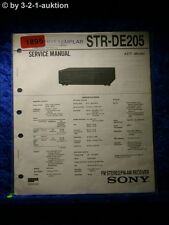 Sony Service Manual STR DE205 Receiver  (#1895)