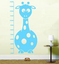 Giraffe Kids Height Chart Vinyl Wall Art Stickers