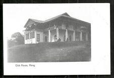 Klang Club House Selangor Straits Settlements Malaysia 1906