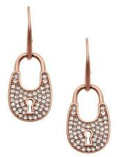 Michael Kors MKJ4891_791 Rose Gold Tone Heritage Padlock Earrings Jewelry