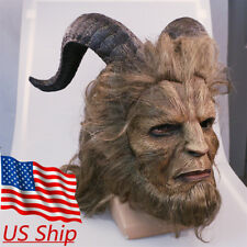 2017 Beauty And The Beast Mask Prince Mask Horror Beast Mask Handmade Prop New