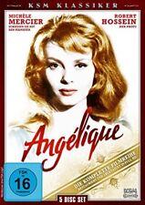 ANGELIQUE, Die komplette Filmreihe (Michèle Mercier) 5 DVDs NEU+OVP