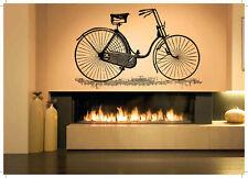 Wall Decal Room Sticker Retro Vintage Bicycle Old Fashion Wheels Nursery bo2979