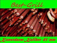 BEST-GRILL Kunstdarm  Räucherwurst Brühwurst Kochwurst Ø 45 mm x 10 Meter Lang