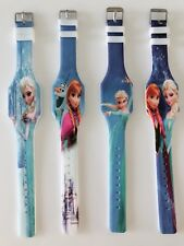 1x Girl Kid Children Frozen Elsa Anna Wrist Silicon Rubber band LED Wrist Watch