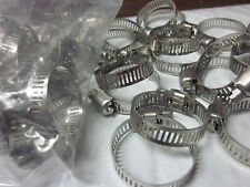 """100pc 1-1/8""""Clamp Stainless Steel Hose Clamps 3/4""""1-1/8"""" Goliath Industrial Tool"""
