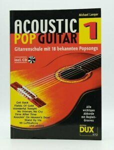 Acoustic Pop Guitar Michael Langer Gitarrenschule Schule mit CD Gitarre Buch #01