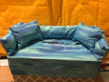 Tissue Box Cover Couch W/ Pillows Blueish GreenCouch With Matching Pillows