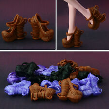 5 Pair / lot Fashion unique Cup Design High-heeled Shoes For Monster High Doll