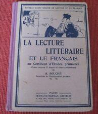 La Lecture Littéraire et le Français Au Certificat D'études Primaires