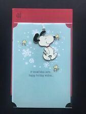 Hallmark Snoopy Christmas Card with Hangable Ornament (NEW)