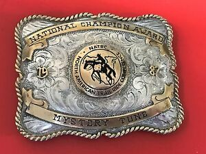NATRC National Champion Award Mystery Tune Sterling Front B-K 1987 Belt Buckle