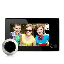 """4.3"""" Digital Peephole Door Viewer Doorbell Wide Angle Video Audio Color Camera"""