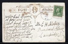 US Guys Mills PA Crawford Co. Doane Cancel to Cambridge Springs PA 1911 a397