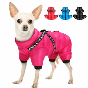Dog Waterproof Jumpsuit Warm Hoodie Jacket Coat Small Dogs Clothes for Winter XS