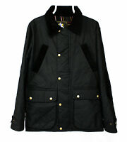 SAVVY CITIZEN men's CHRISTOPHER Waxed Cotton Quilted Black Jacket SIZE: Small