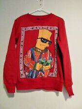 Bart Simpson Sweatshirt Size Small MO Money Mo Problems Red