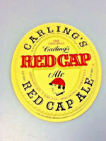 Carlings red cap ale beer sign 3-d vintage wall tacker tacker plaque Carling BC