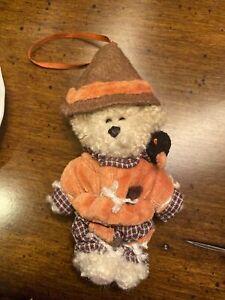 """Boyds Bear 5"""" Mini Scarecrow Lil' Einstein Retired NWT Ornament Autumn Decor EUC"""