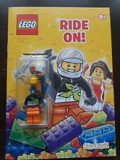 Lego Ride On - Activity Book with Car Mechanic MiniFigure - New