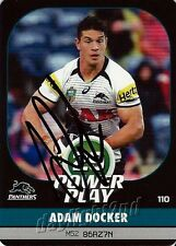 ✺Signed✺ 2015 PENRITH PANTHERS NRL Card ADAM DOCKER Power Play