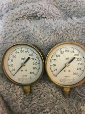 New listing Antique Fire Sprinkler Water Pressure Gauge Us gauge