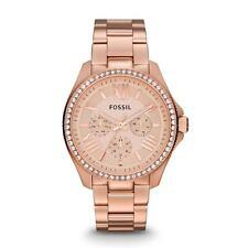 Runde Fossil Armbanduhren mit Datumsanzeige für Damen