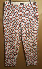 LANDS' END Floral Mid Rise Slim Leg Capri Pants Women's Size 12