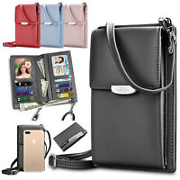 Women Mini Leather Shoulder Bag Cross body Phone Card Holder Strap Wallet Purse