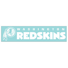 Washington Redskins Car Window Decal 4 x 16 Strip White